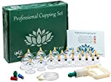Uplife Chinese Cupping Therapy Set, 24 Vacuum Air Suction Cups with Pumping Handle, Anti Cellulite Massage for...