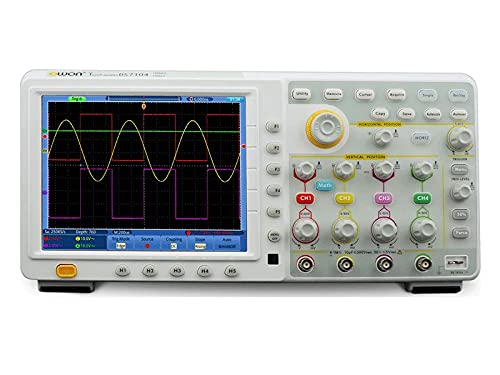 Yuqiyu OWON TDS8204 Pantalla táctil 8 Pulgadas TFT 7.6M Almacenamiento 200MHz 2GS / S Cuatro 4 Canales Owon Osciloscopio Digital
