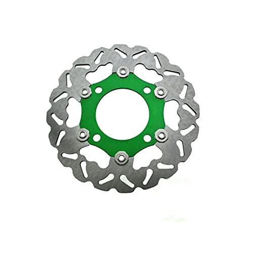 ZSM Disco de Freno Bicicleta de Rotor de Disco de Disco de Freno Flotante de 220 mm para 50cc 110cc 125cc 140cc 150cc 160cc SDG Pit de la Rueda Motos de Suciedad Accesorios de Freno (Color : Groen)