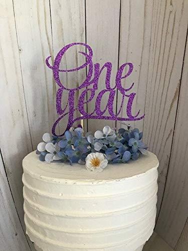 Verjaardag partij taart topper, één jaar taart topper, bruiloft verjaardag taart topper, 1 jaar bruiloft verjaardag taart topper