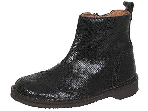 Bisgaard Schuhe mit Budapester Muster, Mädchen Stiefeletten, Schwarz (100 Snake Black), EU 32