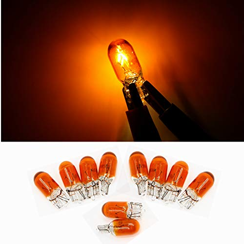 10pcs T10 W5W 168 194 Halogen bulb 12V for Car Wedge Side Light Bulb Amber Car Tail Light Side Parking Dome Door Map Lighting
