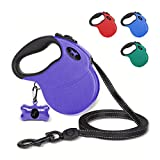 Tuff Pupper Heavy Duty Retractable Dog Leash | 16 ft Dog Leash with Reflective Stitching for Nighttime Safety | One Button Lock and Release | Comfortable Hand Grip | for Dogs Up to 120 lbs
