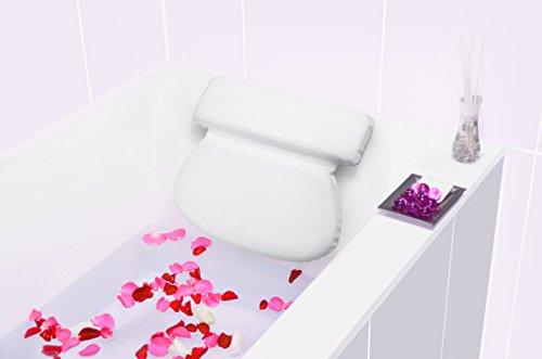 Bach & Berg Badewannenkissen | Weiches Badekissen für eine traumhafte Zeit in der Badewanne oder im Whirlpool mit Nackenkissen | Wannenkissen mit starken Saugnäpfen zur Erholung im Home SPA | - 5