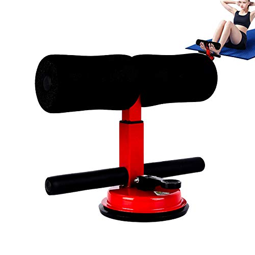 HUUPRO Sit Up Assistant Device - Upgraded Portable Adjustable Suction Sit-up Floor Bar Exercise Stand Aid with Comfortable Padded Ankle Support Rode Workout Equipment for Home Gym Fitness Travel Gear