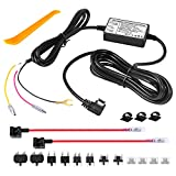 Range Tour Dash Cam Hardwire Kit,12V-24V to 5V Car Dash Camera Charger Power Cord, 3 cores, 4 Types / 8 adapters and 4 fuses, Mini USB Hard Wire Kit Fuse for Dash Cam
