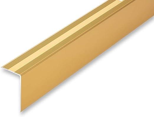 ungebohrt-selbstklebend 15,57/€//m Treppenwinkel 30 x 52 mm in 6 Eloxalfarben gebohrt inkl , bronze Montageset selbstklebend Top Treppenkantenprofil   30 x 52 x 1180 mm ungebohrt