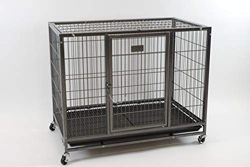 37' Homey Pet Heavy Duty Metal Open Top Cage w/ Floor Grid,...