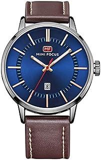 ساعة كوارتز للرجال من ميني فوكس، بعرض انالوج وسوار من الجلد - طراز MF0033G.04