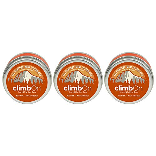 climbOn All Purpose Lotion Bar - Aromatherapy Balm Helps Soothes and Moisturizes Dry Cracked Skin (Original, 0.5 Oz Tin 3 Pack)