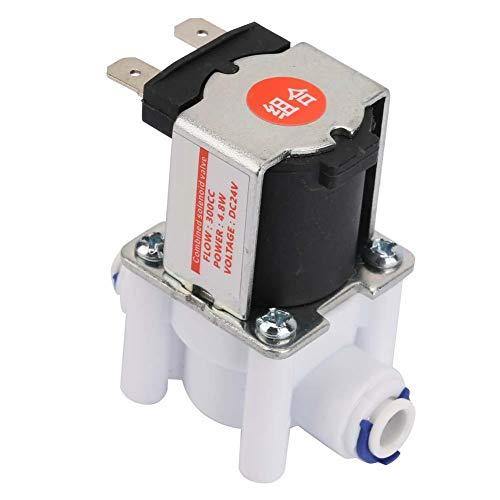 24V Válvula solenoide de aguas residuales, 1/4 electrovalvula solenoide de conexión rápida 300CC para purificador de agua, tipo normalmente cerrado