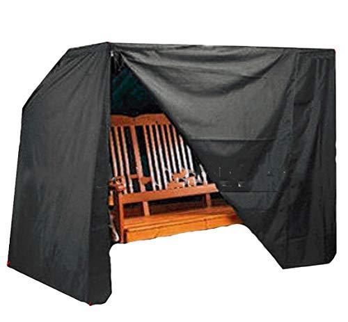 Mitef Housse de Protection pour balançoire de Jardin imperméable et Anti-poussière Disponible en Deux Tailles et Trois Couleurs, Noir, 220x125x170cm/86.6\