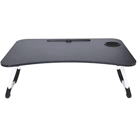 Gudi Laptop Table with Cup Holders & Tablet Holder Multipurpose Foldable and Portable Lapdesk for Study {Multi Colour}