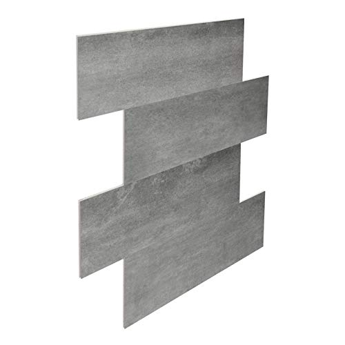 Wandtegels zonder voegen Bad Spc Vinyl tegels 75x30cm PS32 13.74 M ²/6 Package Grijs