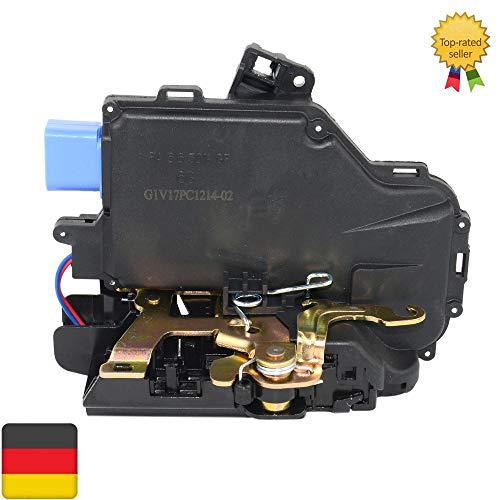 HAZYLA Kompatibel VW Jetta Golf 5 GTI Kaninchen Neue Türschloss Verrastungsbetätigung hinten Links LH Oe # 7L0839015 / 7L0839015A / 7L0839015D,Schwarz
