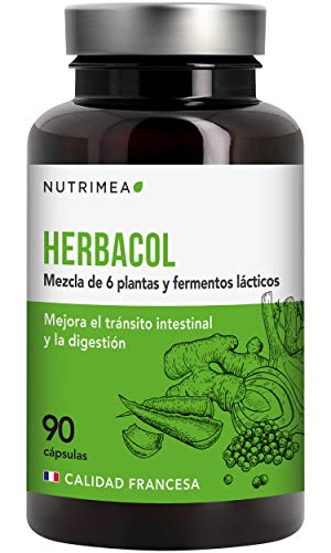 Detox Aloe Vera Colon Cleanser Limpieza de Colon Estomago Laxante Forte Diuretico Suplemento HerbaCol Hinojo Jengibre Konjac Pimienta Negra Lactobacillus Acidophilus Vegano Fabricado en Francia