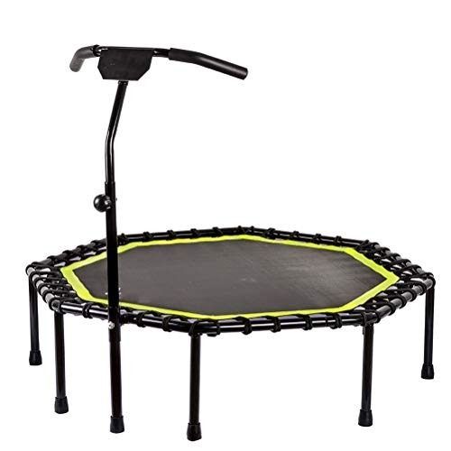 Hbao Trampolín para niños Cama elástica Octogonal para Saltar Trampolines con pasamanos Ajustable Equipo de Fitness para Gimnasio en casa