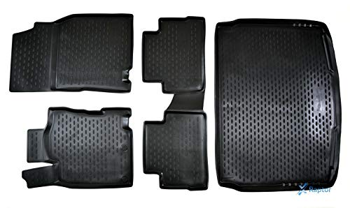 J&J AUTOMOTIVE Exklusiv 5-TLG Set Gummimatten + Kofferraumwanne für Nissan Qashqai J11 ab 2014