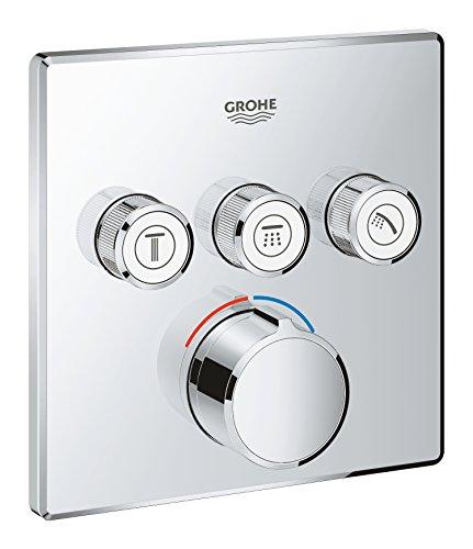 Grohe SmartControl - Mezclador Cuadrado para ducha o bañera con 3 salidas (29149000)