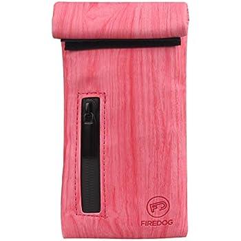 Stash Case FIREDOG Smell Proof Bag, Carbon Lined Odor Proof Bag, Dog Tested Pouch for Women Stash Travel Storage Pocket (Red)