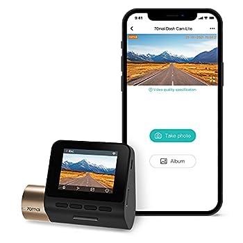 70mai Dash Cam Lite Smart Car Camera 1080p WiFi Dash Camera for Cars Sony IMX307 2  LCD Screen Parking Monitor G-Sensor Super Night Vision Loop Recording iOS/Android Mobile App WiFi  2021
