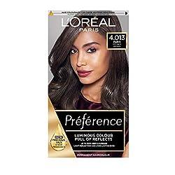 L'Oreal Paris, Preference Hair Colour Paris 4.01 Enriched with high shine elixar Up to 8 weeks of lustrous colour Perfect grey coverage Permanent colour