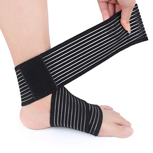 BESTOYARD 1 Stück Knöchelbandage Knöchelstütze Sprunggelenkbandage Fußbandage Fußgelenk-Bandage Elastische Stabilisator Unterstützung für Damen Herren Kinder Sport (Schwarz)