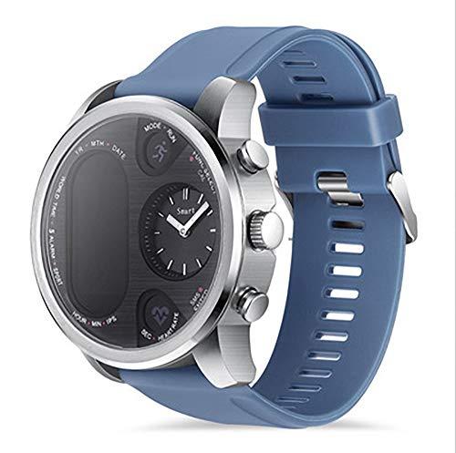 Reloj inteligente, IP68 resistente al agua Bluetooth 4.0 detección de salud, modo deportivo, cálculo, pasos para encontrar el teléfono compatible con Android e iOS (color: azul)