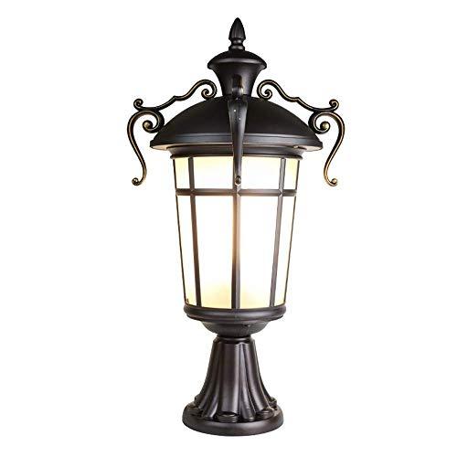 LMDH LED-Straßenlaternenpfahlleuchte für den Außenbereich wasserdichte, hohe Laterne, für gewerbliche Zwecke, Antik, Kolonialstil, Vintage