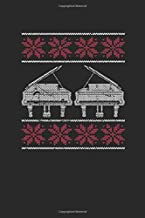 Christmas Piano: Blank Lined Notebook (6