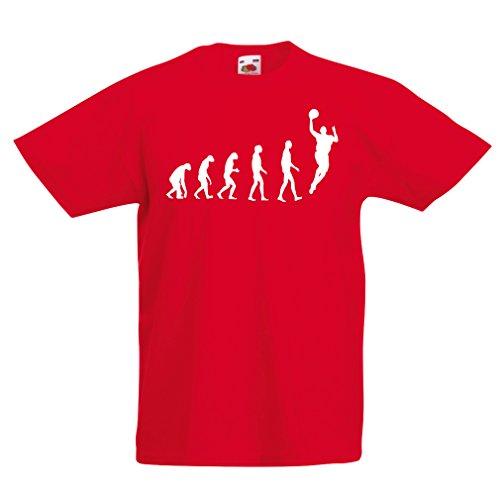 Camisas para niños evolución de Baloncesto - Canasta de la Calle, me Encanta Este Juego, Gran Fan de Regalo (9-11 Years Rojo Blanco)