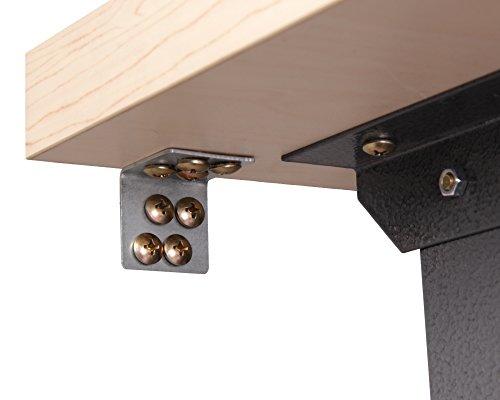 Ondis24 Werkstatteinrichtung 120 cm grau Werkbank Basic aus Metall und Lochwand mit Hakensortiment (Arbeitshöhe 85 cm) - 6