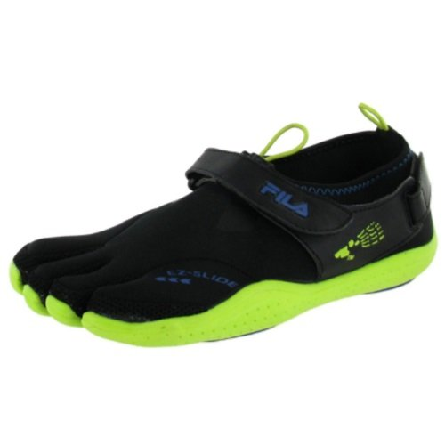 Fila Skele-Toes EZ Slide Drainage Black/Limepunch/Blue Mens Water Sports Size 11M