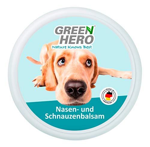 Green Hero Nasen- und Schnauzenbalsam für Hunde beruhigt pflegt und schützt trockene Hundenasen und Schnauzen Hochwertiges Balsam mit natürlichen Inhaltsstoffen 75 ml
