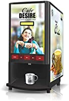 Cafe DESIRE I DRINK SUCCESS Coffee Machine 2 Lane | Fully Automatic Tea & Coffee Vending Machine | For Offices, Shops...