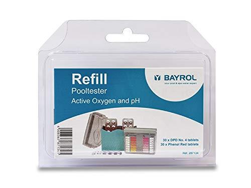 BAYROL Tabletten Nachfüllpackung pH Wert und Sauerstoff für Pooltester - 2 x 30 Tabletten Phenol Red & DPD No. 4