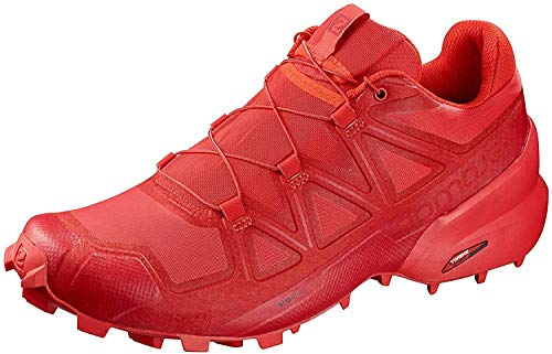 SALOMON Women's Speedcross 5 Shoes Trail Running Shoes Running Shoes, high risk red-barbados cherry-, 4 UK