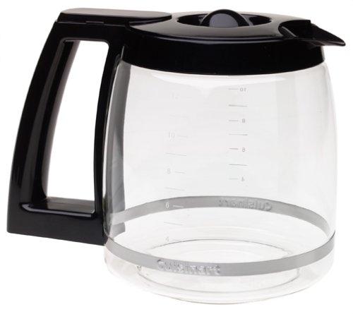 Cuisinart DCC-1200PRC Jarra de vidrio de repuesto, 12 tazas, color negro, Jarra de vidrio, Negro, 12 tazas, 1