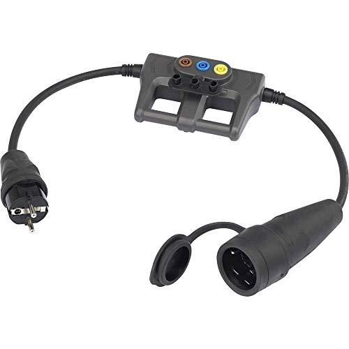Messadapter [Schuko-Stecker aus Gummi - Schuko-Steckdose aus Gummi VOLTCRAFT DLA-1L 16
