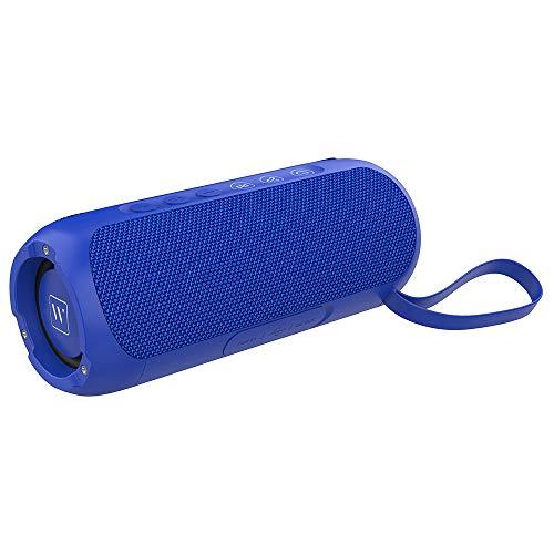 Wharfedale Altavoz Bluetooth portátil Impermeable, Sonido Estéreo de 20 W, Tiempo de Reproducción Prolongado, Micrófono Incorporado, Altavoz inalámbrico TWS para Exteriores, Natación(Azul)