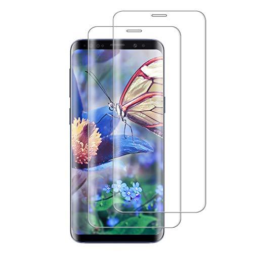 XSWO 2 Unidades Cristal Templado para Galaxy S8, Protector de Pantalla para Samsung Galaxy S8, [3D Cobertura Completa] [Alta Sensibilidad] [Anti Arañazos] [Anti Huella Digital] Vidrio Templado