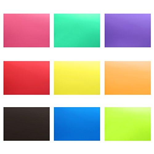 Neewer 9 Stück Blitz Beleuchtung Gelfilter Plastikfolien Set mit 9 12x8,3 Zoll durchsichtige Farbkorrektur Beleuchtung Folien Kunststoffplatten