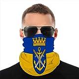 vbndfghjd 8 Bufanda de Microfibra Transpirable Multifuncional Media Cubierta Escudo Bandera de solingen en renania del Norte Westfalia Alemania Cubierta a Prueba de Viento