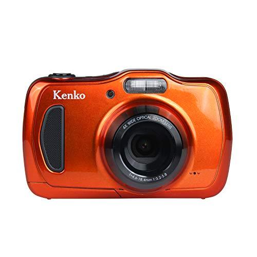 Kenko デジタルカメラ DSC200WP 防塵・防水 IP58 2016万画素 光学4倍ズーム 1m耐衝撃 オレンジ 438589