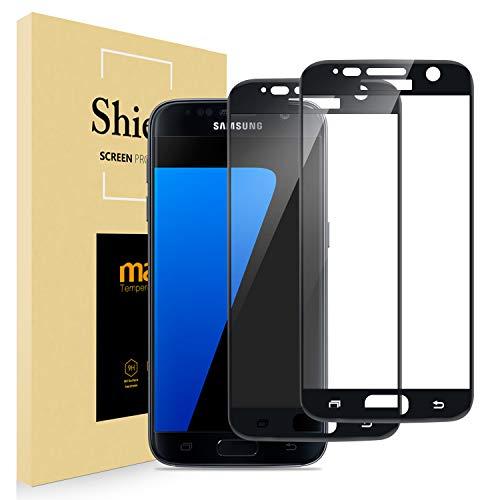 AUCHIKU Panzerglas Schutzfolie Kompatibel mit Samsung Galaxy S7[2 Stück], 9H Härte Gehärtetem Glas Anti-Fingerabdruck HD-Klar Displayschutzfolie für Samsung Galaxy S7
