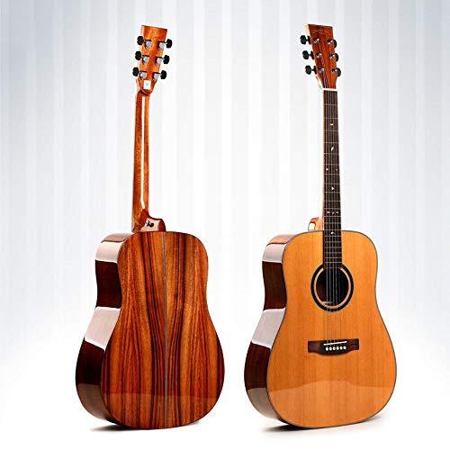 North King Guitarra de Madera Maciza Hecha de Pino Rojo Pulgadas una Placa Guitarra Tipo d Folk Guitarra Instrumento para Principiantes para Practicar