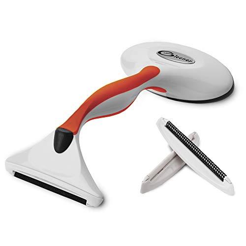 Gleener Ultimate Fuzz Remover Fabric Shaver & Lint Brush   Adjustable Depiller for Clothes & Furniture (Slate Blue) (Burnt Orange)