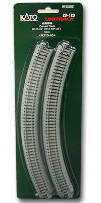 KATO Nゲージ 曲線線路 R315-45° 4本入 20-120 鉄道模型用品