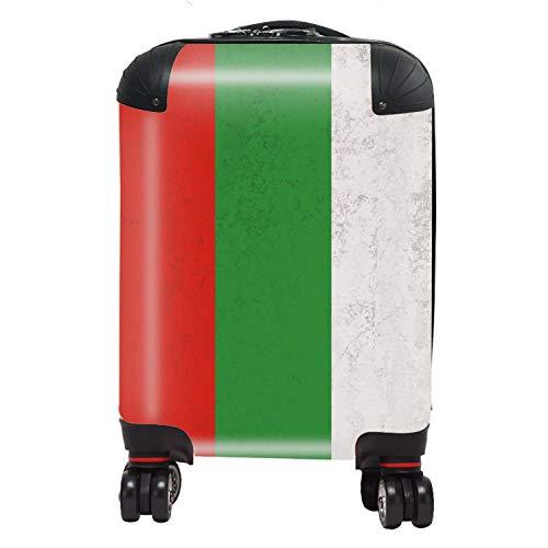 Vlag Bulgarije/Bulgarije, vlag van Oost-Europa, voor kinderen, cabine met TSA Lock 4 draaibare wielen, bagagetas, 46 cm, 29 l