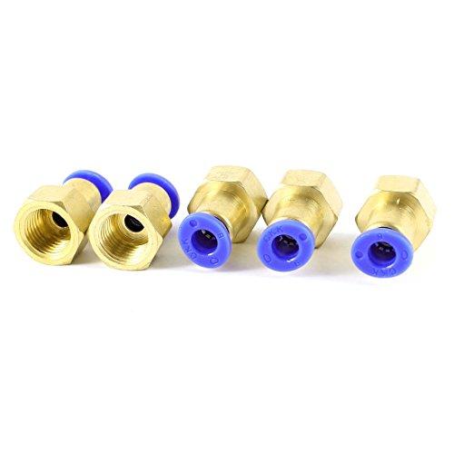 Acoplamientos rápidos, acoplamiento rápido, conexión de presión de aire recta, rosca interna de 0,2 x 0,4 pulg. (6 x 11 mm), paquete de 5